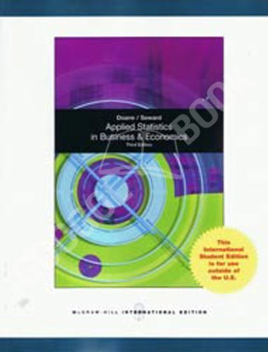 9780071220705: Applied Statistics in Business and Economics