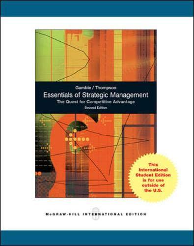 9780071220811: Essentials of Strategic Management: The Quest for Competitive Advantage