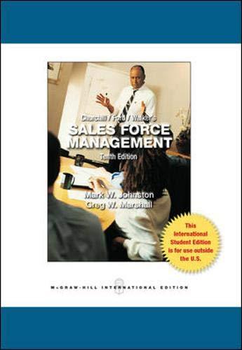 9780071220910: Sales Force Management