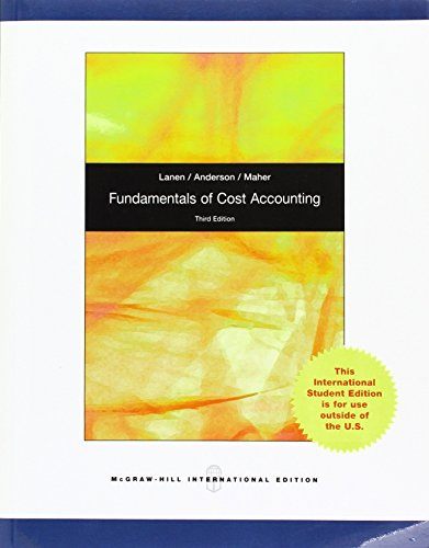 9780071220965: Fundamentals of Cost Accounting.