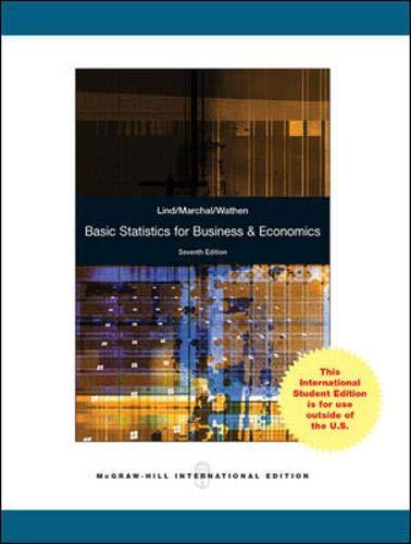 9780071220996: Basic Statistics for Business & Economics