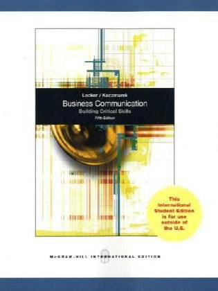 9780071221009: Business Communication: Building Critical Skills