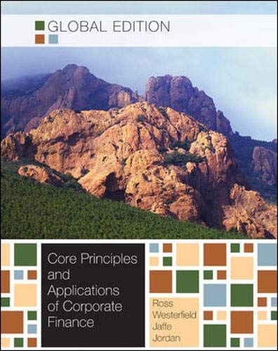 9780071221160: Corporate Finance: Core Principles and Applications