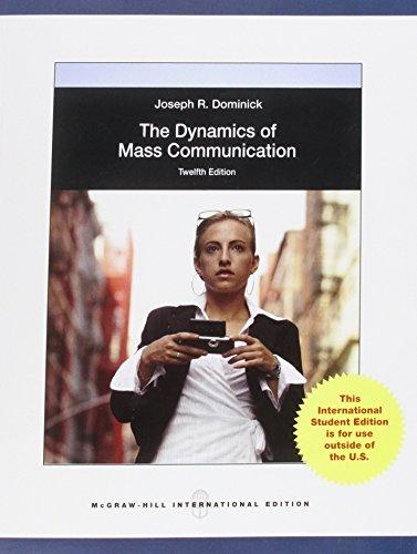 9780071221467: Dynamics of Mass Communication: Media in Transition