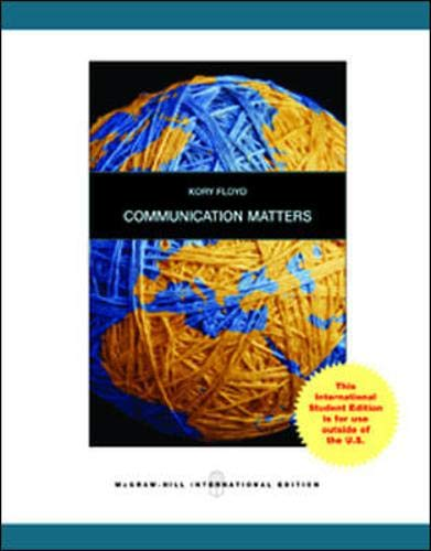 9780071221498: Communication Matters