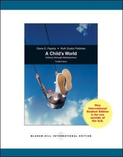 9780071221634: A Child's World: Infancy Through Adolescence