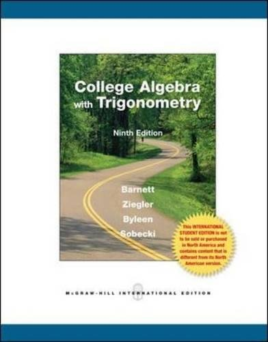 9780071221757: College Algebra with Trigonometry