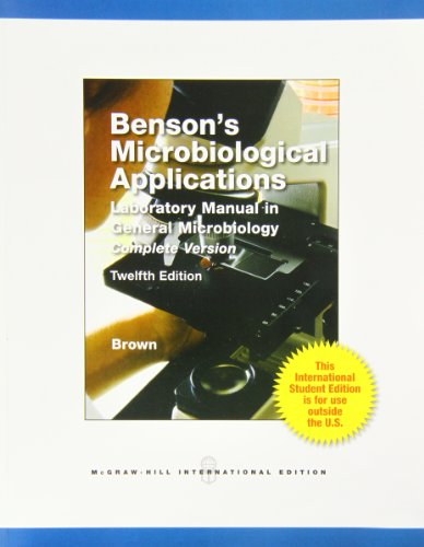 9780071221818: Benson's Microbiological Applications Complete Version
