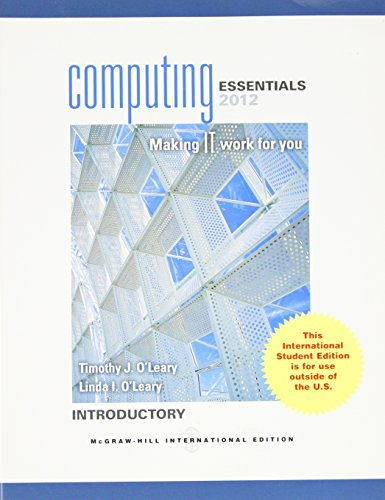 9780071222006: COMPUTING ESSENTIALS 2012 INTRODUCTORY