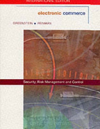 9780071223751: Electronic Commerce: Security Risk Management and Control