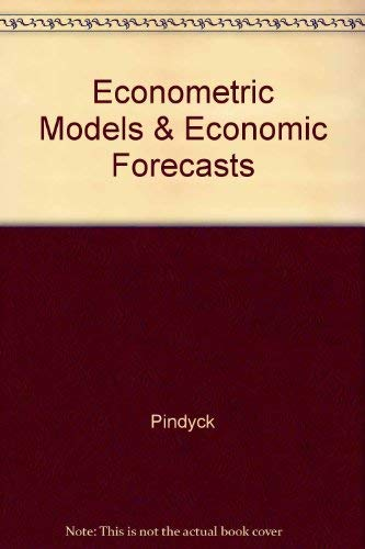 9780071224444: Econometric Models & Economic Forecasts