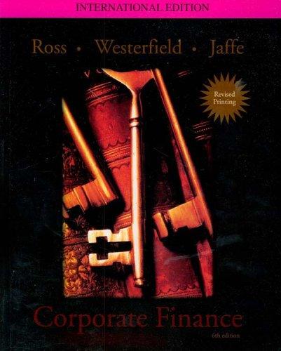 9780071229036: Corporate Finance, International Edition by Jaffe Ross Westerfield