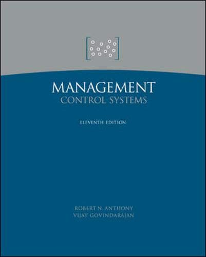 9780071232272: Management Control Systems