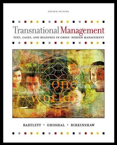 9780071232289: Transnational Management: Text and Cases