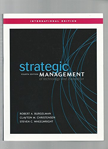 9780071232302: Strategic Management of Technology and Innovation