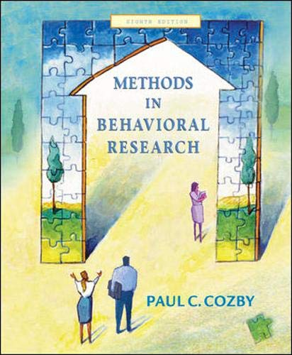 9780071232357: Methods in Behavioural Research: With PowerWeb