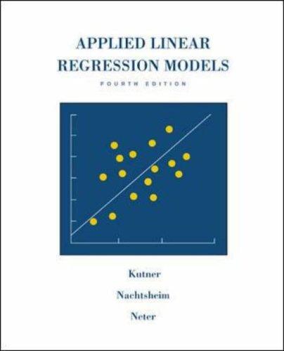 9780071232524: Applied Linear Regression Models