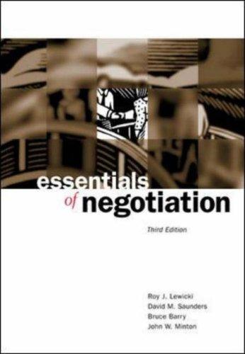 9780071232548: Essentials of Negotiation