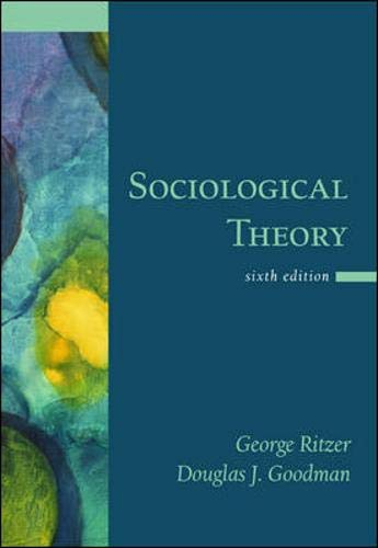 9780071232678: Sociological Theory