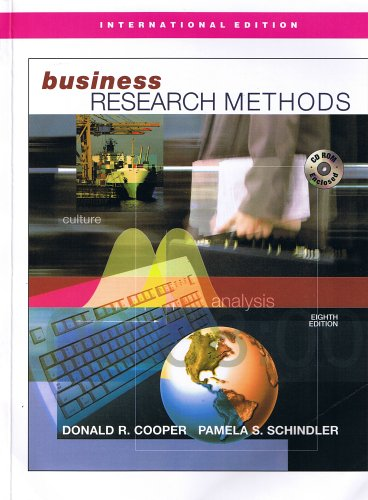 9780071233125: Business Research Methods - International Edition
