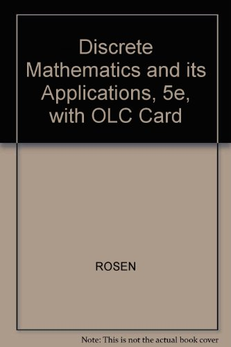9780071233743: Discrete Mathematics and its Applications, 5e, with OLC Card