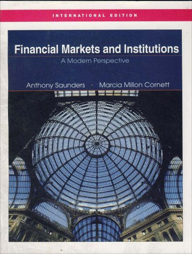 9780071234306: Financial Markets & Institutions (Study Guide) (2nd, 04) by Saunders, Anthony - Cornett, Marcia Millon - Cornett, Marcia [Paperback (2003)]