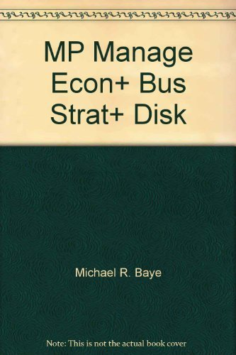 9780071234733: MP MANAGE ECON BUS STRAT DISK