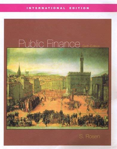9780071236331: Public Finance (International Edition) [Paperback] by Rosen, Harvey S.