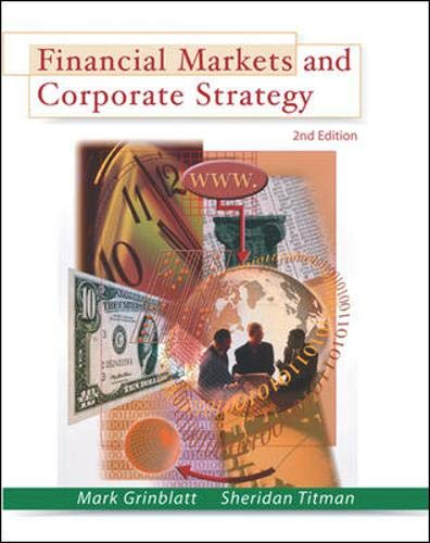 9780071236867: Financial Markets and Corporate Strategy
