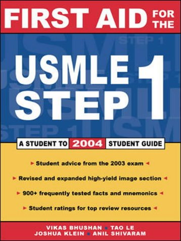 9780071237109: First Aid for the USMLE Step 1