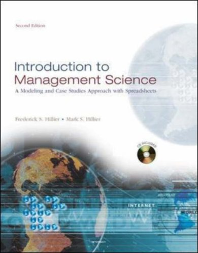 9780071238106: Introduction to Management Science: With Student CD-ROM