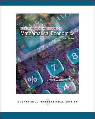 9780071238236: Fundamental Methods of Mathematical Economics