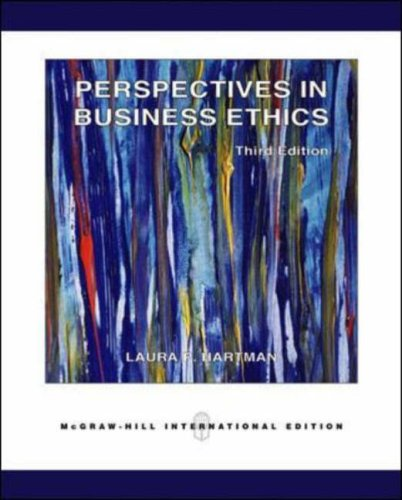 9780071238267: Perspectives in Business Ethics