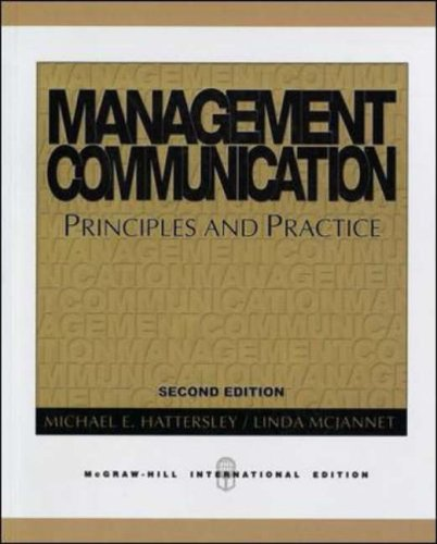 9780071238274: Management Communication: Principles and Practice