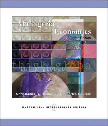9780071238342: Managerial Economics