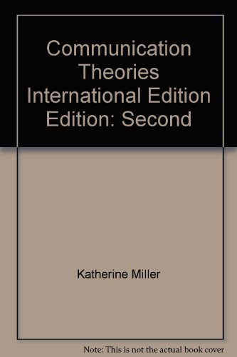 9780071238359: Communication Theories International Edition