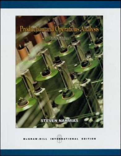 9780071238373: Production and Operations Analysis