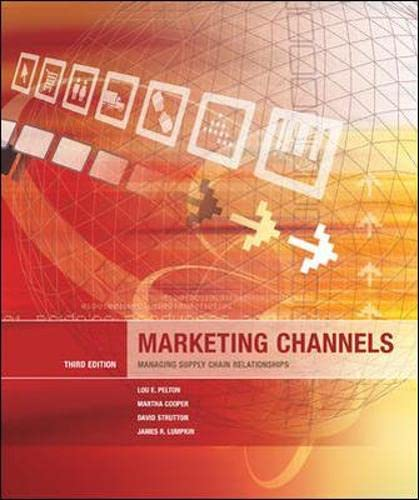 9780071238397: Marketing Channels: Managing Supply Chain Relationships