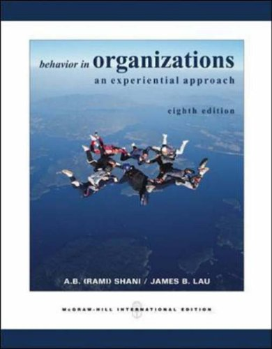 9780071238458: Behavior in Organizations