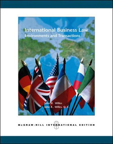 9780071238465: International Business Law