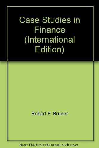 9780071239226: Case Studies in Finance (International Edition)
