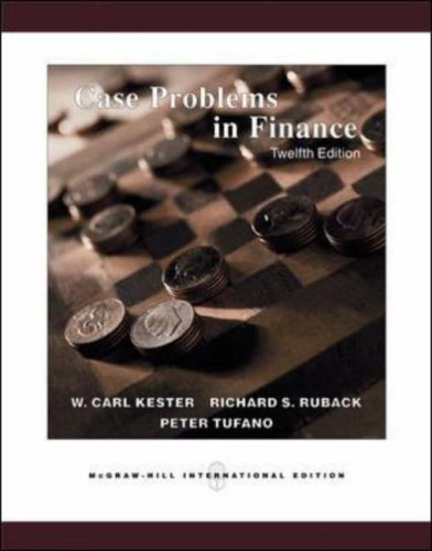 9780071239271: Case Problems in Finance: With Excel Templates CD-ROM
