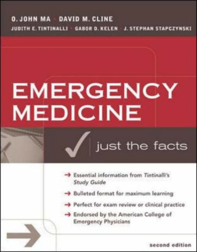 9780071239998: Emergency Medicine: A Comprehensive Study Guide (Just the Facts)