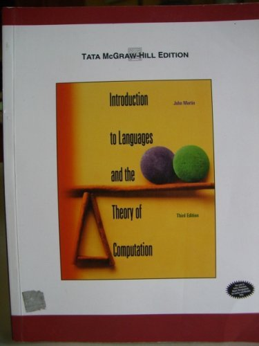 9780071240185: Introduction to Language and the Theory of Computation.