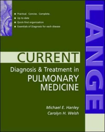 9780071241458: Current Diagnosis and Treatment in Pulmonary Medicine