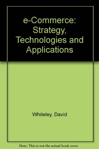 9780071241618: e-Commerce: Strategy, Technologies and Applications