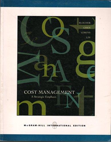 9780071241908: Cost Management: A Strategic Emphasis (International Edition)