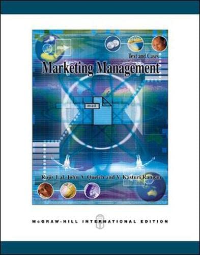 9780071242189: Marketing Management Text and Cases