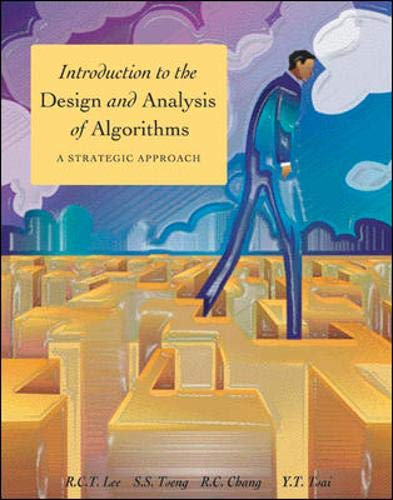 9780071243469: Introduction to the Design and Analysis of Algorithms