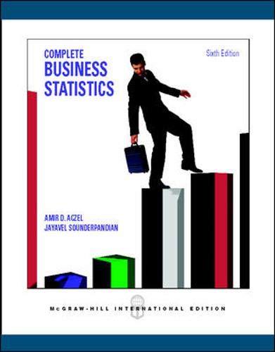 complete business statistics aczel sounderpandian pdf